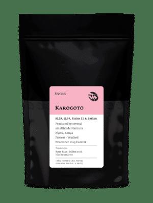 Karogoto SL28 and SL34 cultivars espresso beans